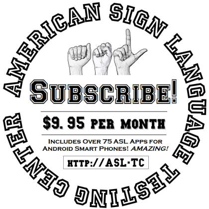 Image of how to subscribe to the ASL training center.